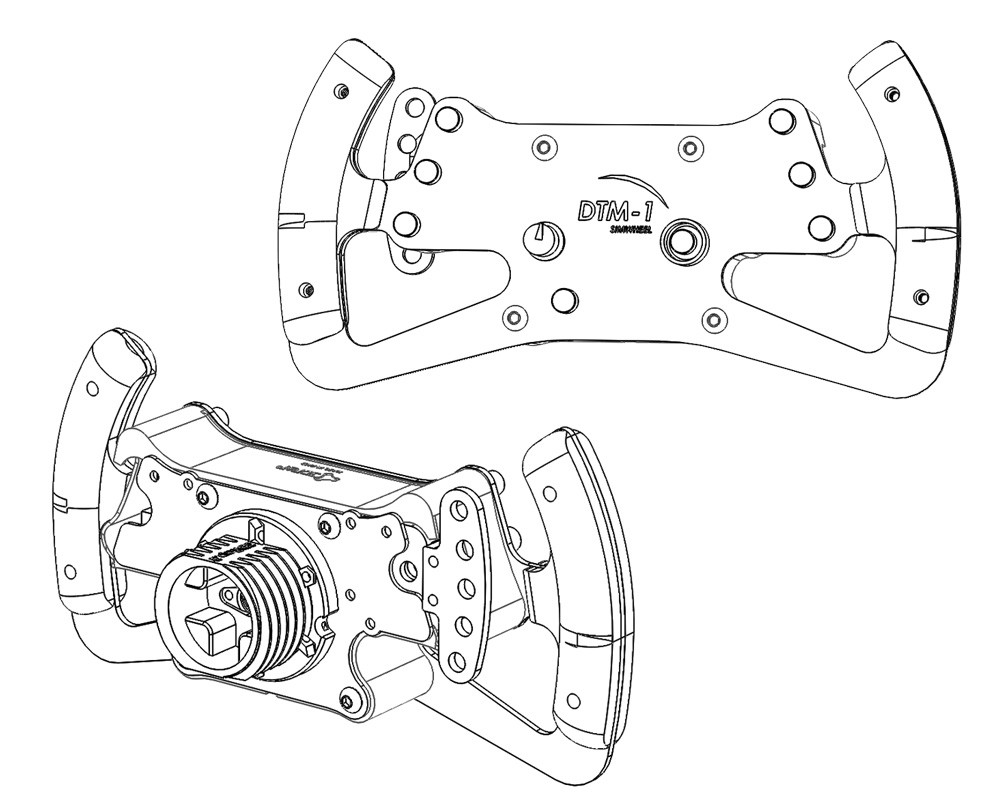 DTM / GT Steering Wheel KIT by 3DRap - Thrustmaster Logitech and OSW  adapters