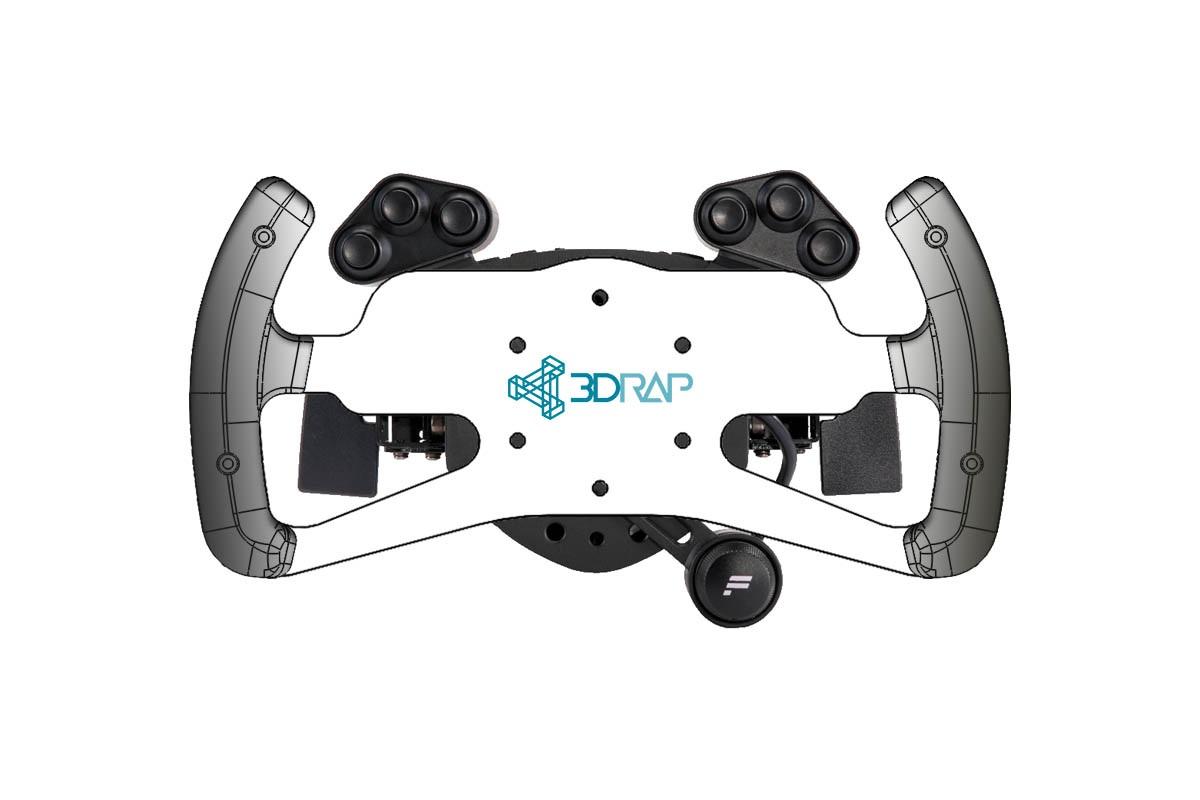 Fanatec HUB - 70mm - DTM/GT Rim KIT by 3DRap