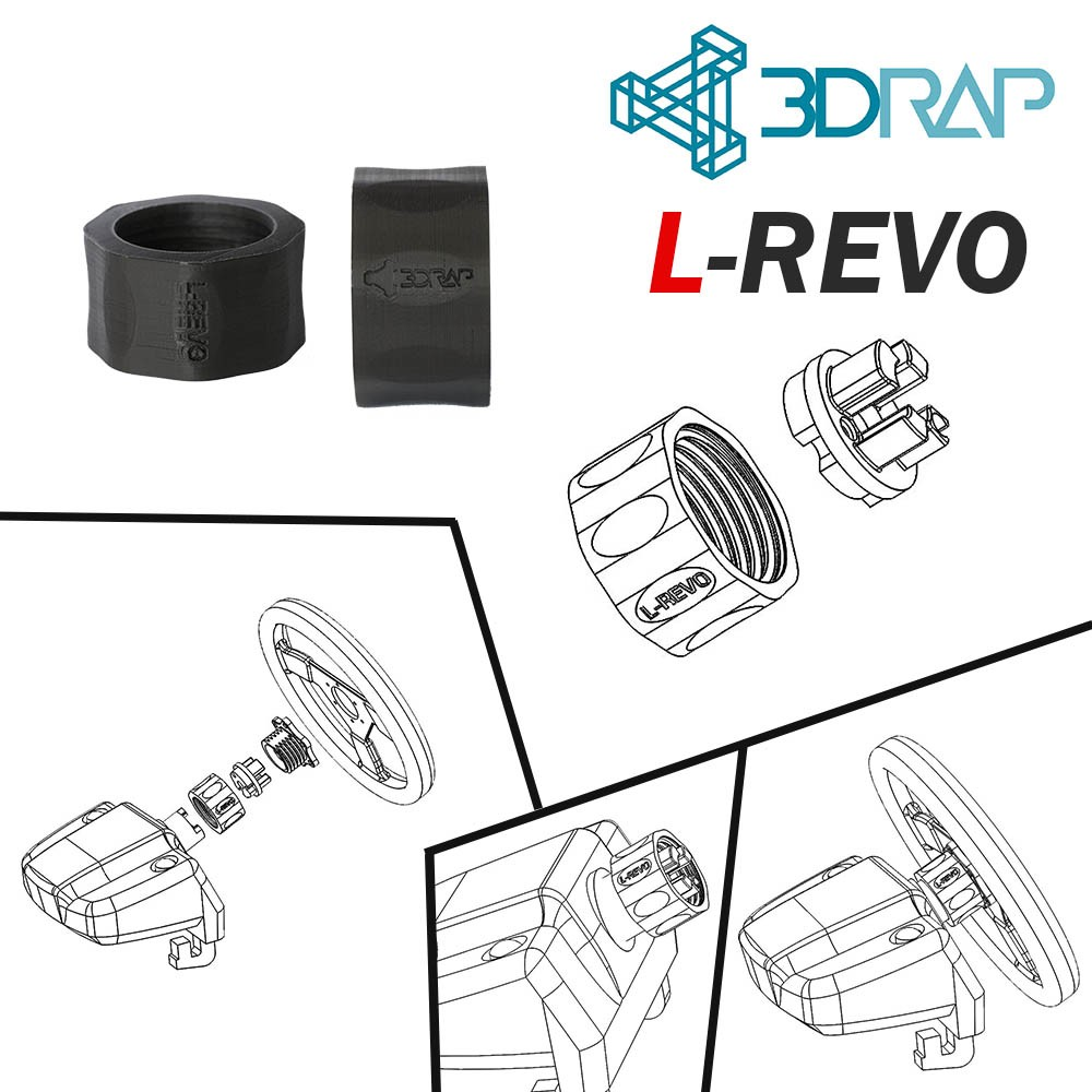 L-REVO Quick Release QR Adapter - Logitech G25 / G27 / G29 / G920 and DFGT