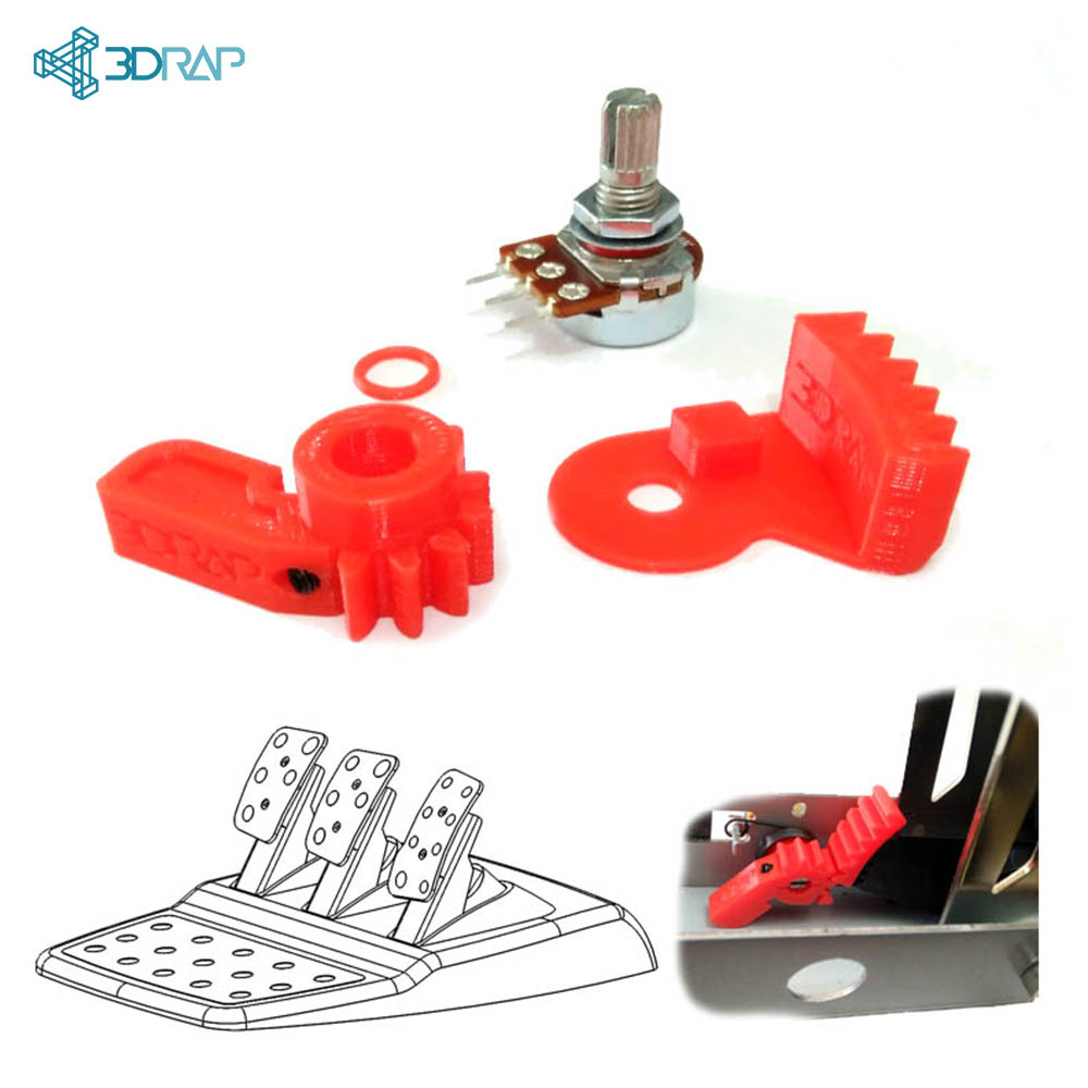 Potentiometer Replacement KIT - Logitech Pedals solution by 3DRap